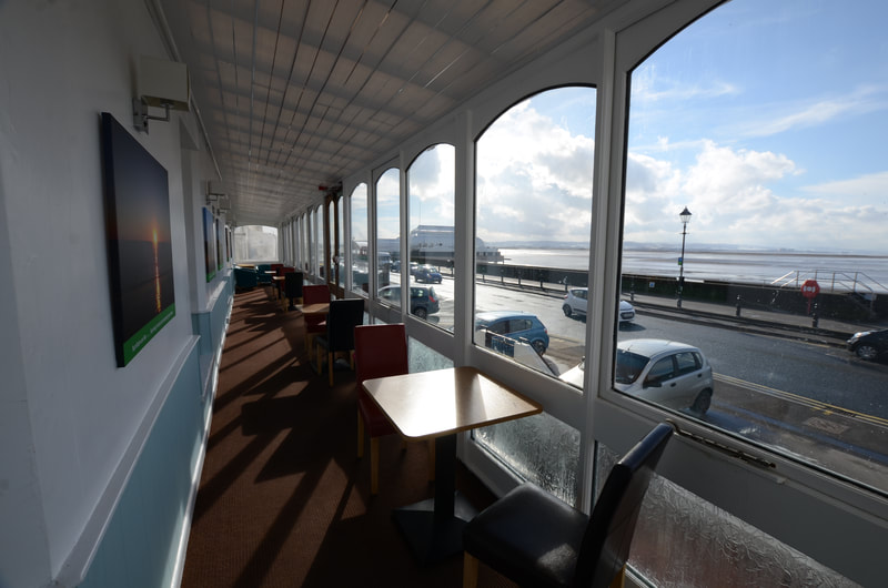 Amazing Sea Views from The Sun Terrace at The Royal Clarence Hotel in Burnham-on-Sea