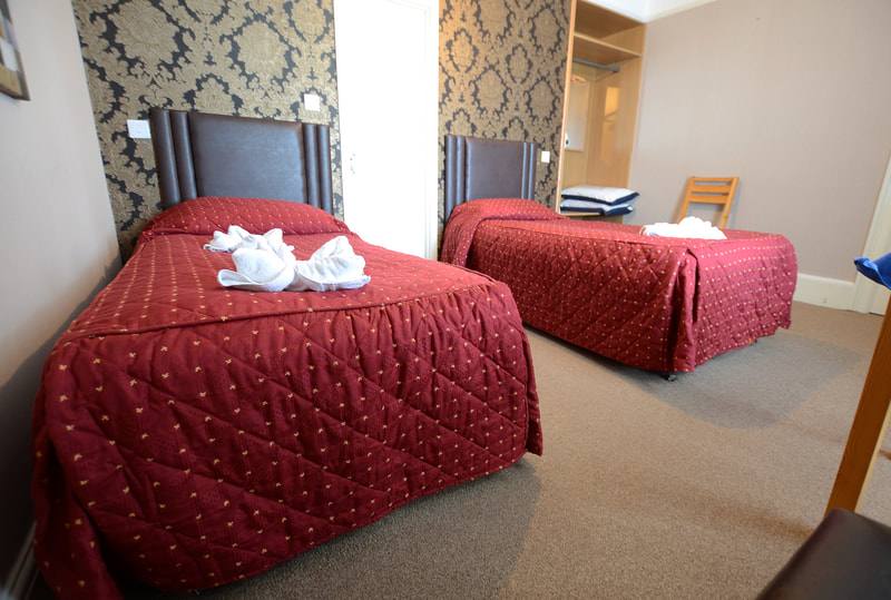 Twin Room at The Royal Clarence Hotel on the Seafront in Burnham-on-Sea
